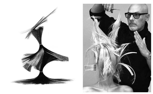 Nicolas Jurnjack Hair Sculptures