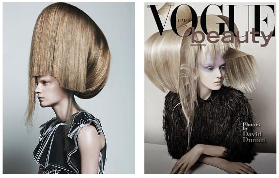 Left: Vogue Italia with Stef van der Laan - Right: Vogue Italia with Maja Salamon