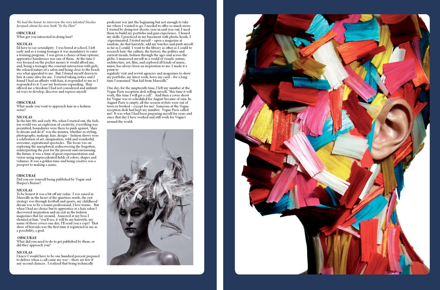 Obscurae Magazine - Nicolas Jurnjack -  Page 74-75