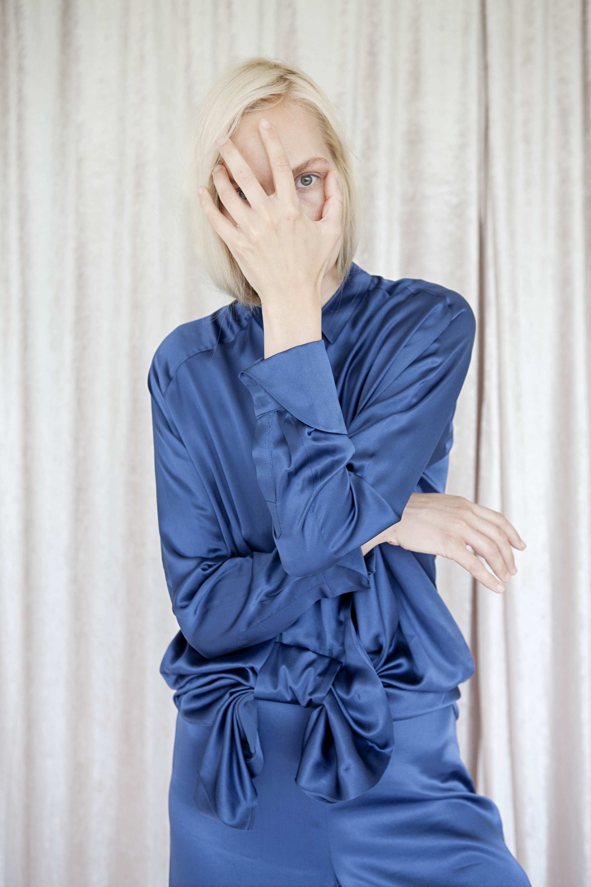 CABIN FEVER - Volume #01Cabin Fever is a mix of tailored clothes with small constructed details. It is built upon a mutual wish for more tailored one-of-a-kind pieces in high quality textiles. The collection is small and highly curated.Photography by Therese Fische / Hair and Make-Up by Parisa Fard / Model Yvonne Eriksen