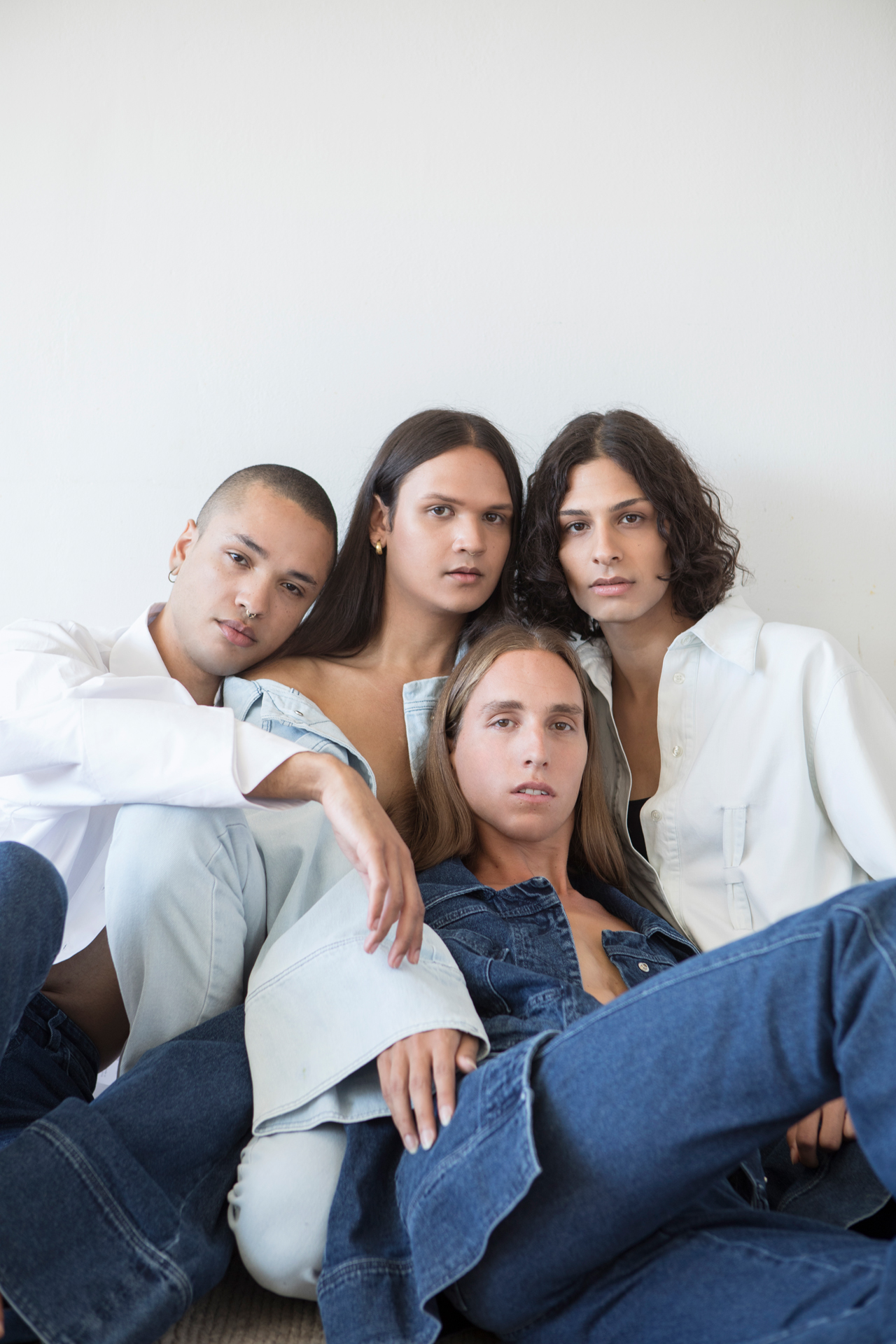 DENIM BLUE EDITION - Photography by Therese Fische / Hair and Make-Up Parisa Fard / Models Dimitris Leivadiotis, Phillip McLeod, Coline Cherry and Danielle Heide