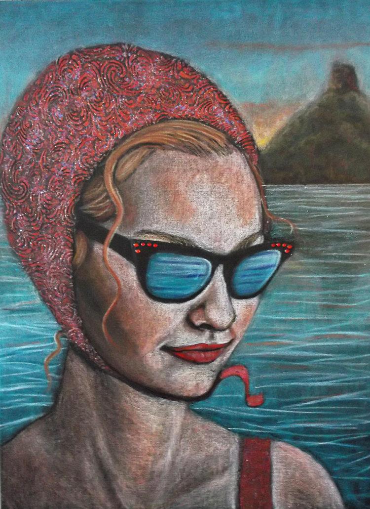 Swim Girl with Sunglasses