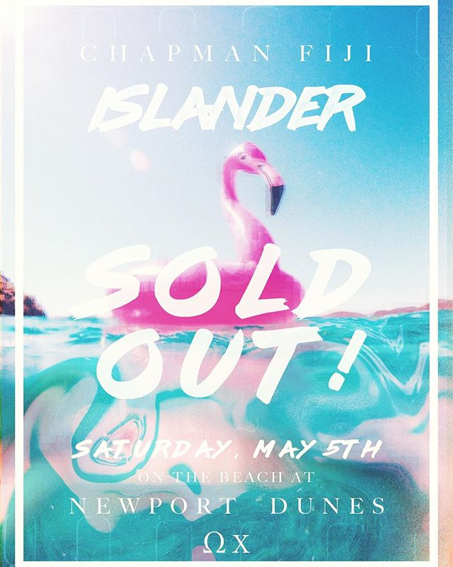 We're incredibly excited to announce Islander has officially sold out! If you haven't done so already, pick up your wristbands on campus and get ready for an amazing event on Saturday