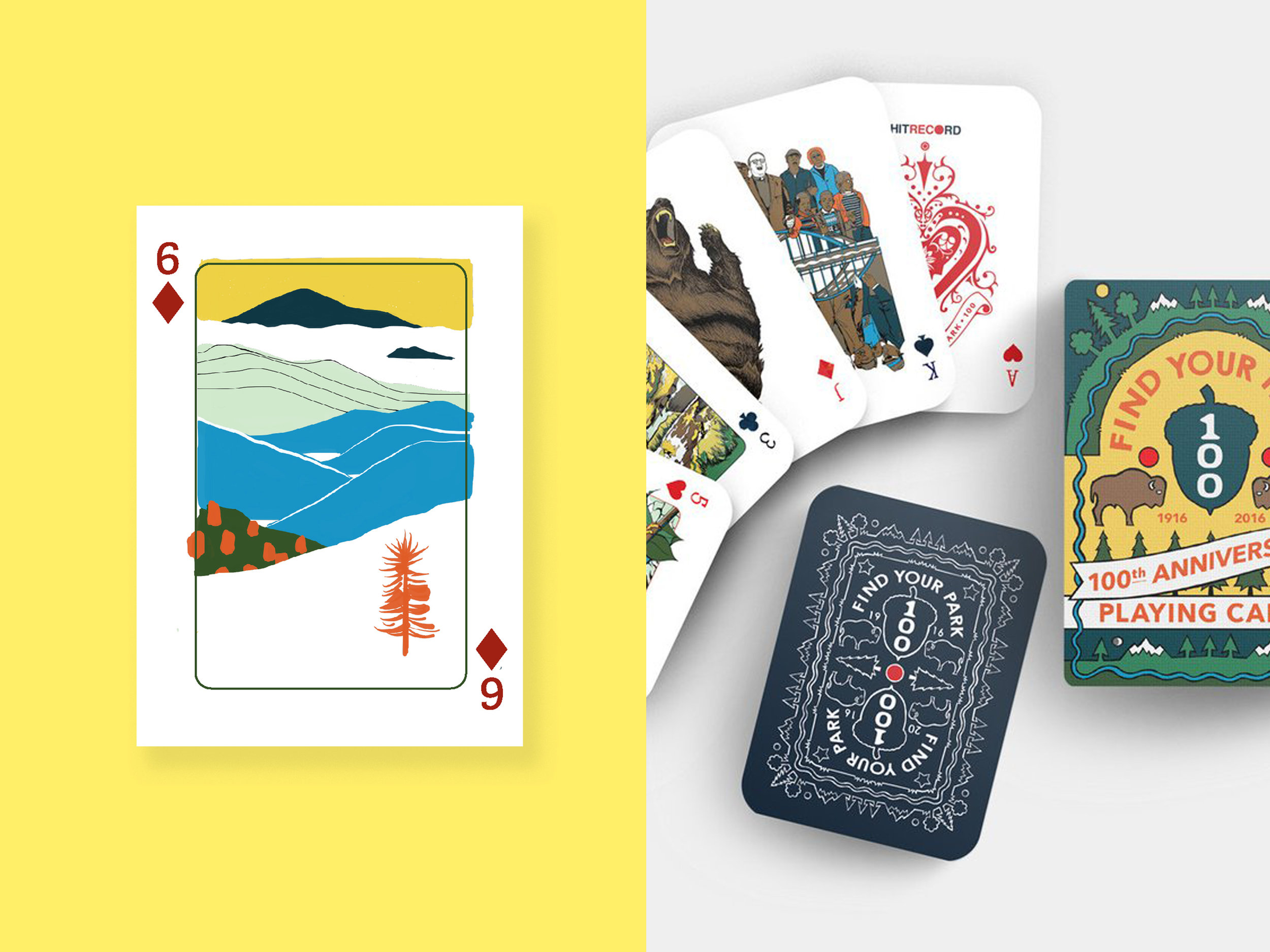 'Find Your Park' Playing Cards