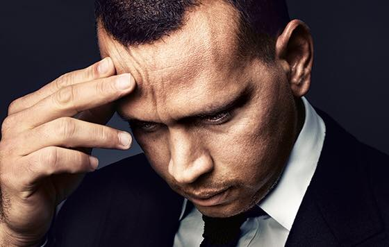 Photo:  Alex Rodriguez in deep thought/ Source:  Alex Rodriguez's Facebook page.