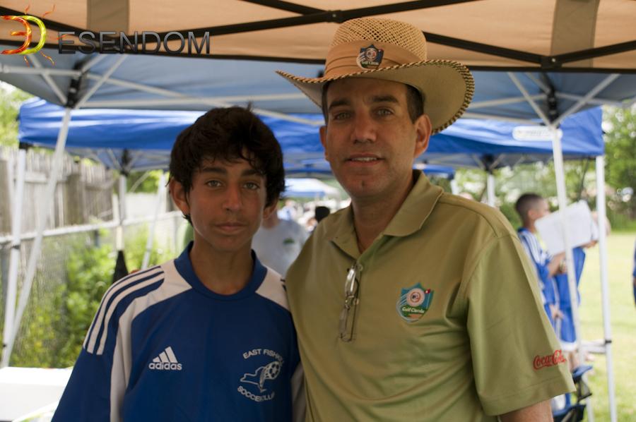 Kevin Collado junto a su padre Carlos Collado