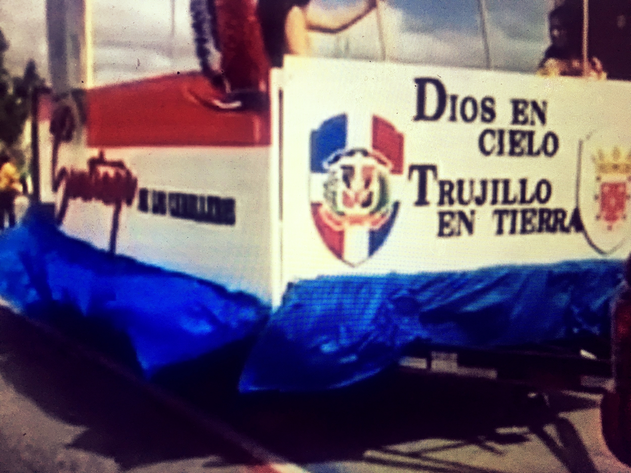 Trujillo float at Dominican Day Parade & Festival in Providence, Rhode, Island.