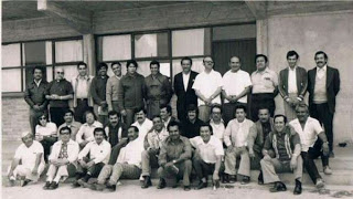 Jesús Carcelle (Don Chuncho), segundo desde la izquierda en la fila trasera.
