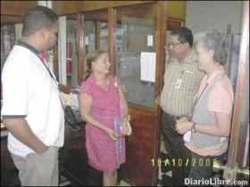 Departamento de Fuentes Orales, AGN. De izq. a derecha: Pedro de León, Maria Rojas Vargas, Jesus Diaz, G.A.