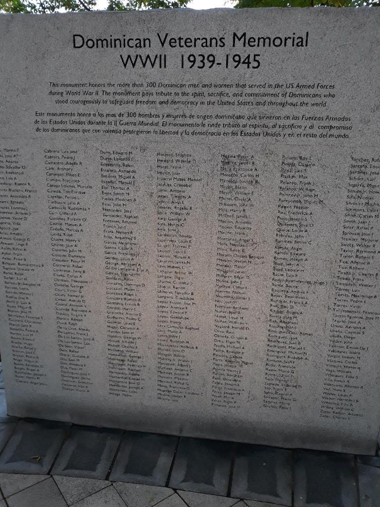 Monumento dedicado a veteranos dominicanos que participaron en la Segunda Guerra Mundial/Foto: Melbin Peralta.