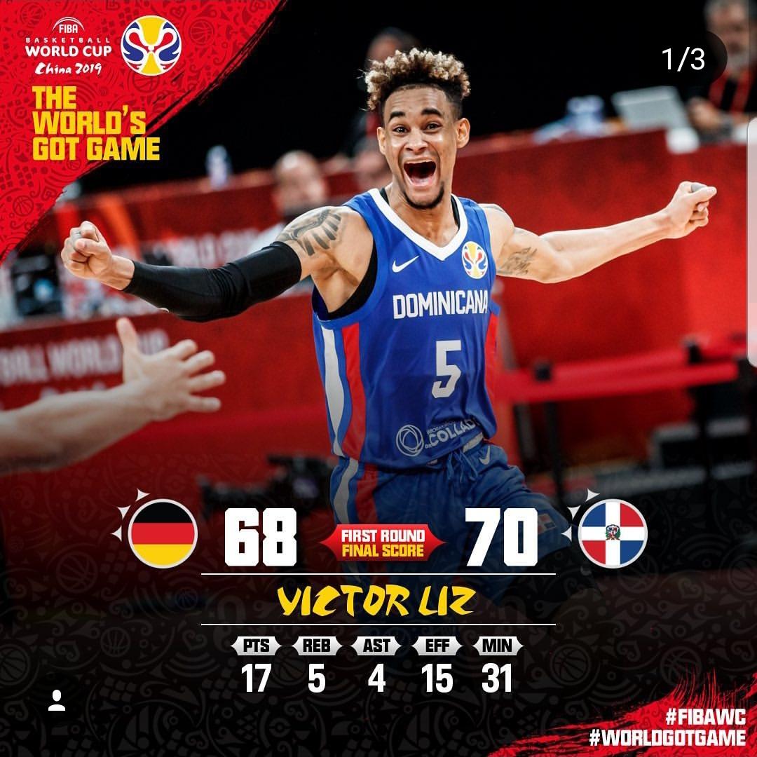 Víctor Liz el máximo anotador del equipo dominicano hasta el momento  Fuente: FIBA