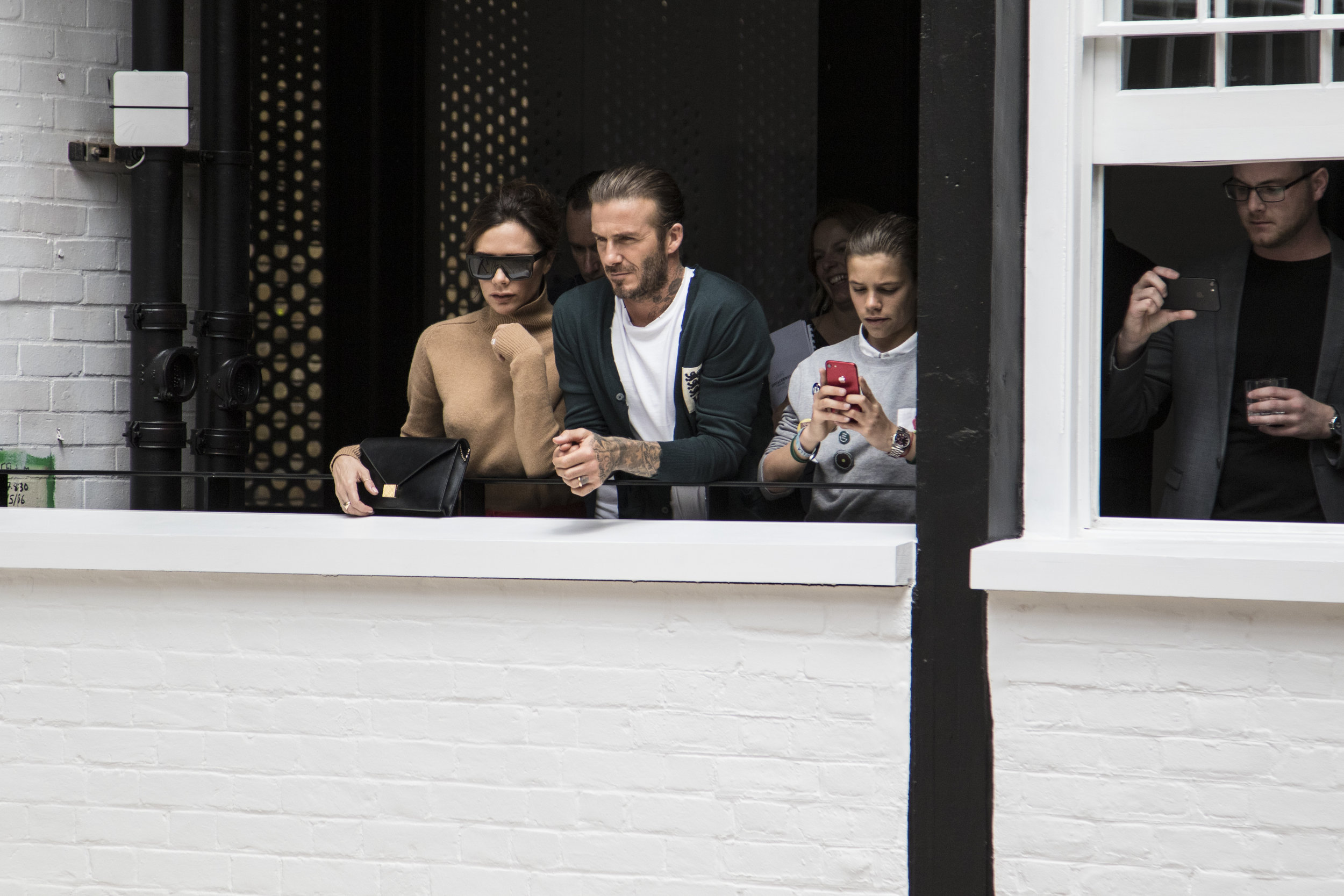 David, Victoria and Romeo Beckham