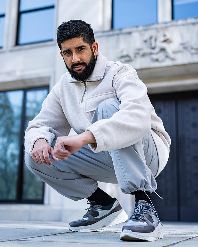 AD | Muted tones of grey and stones. Wearing @asos  Photography @antonjwelcome  Edit @styleandstylus  #asos #asseenonme #greytones ————————————————— #lfw #lfwm #bankholiday #goodfriday #friday #london #50shadesofgrey #chunkysneakers #selectedhomme #streetwear #streetstyle #combattrousers #indian #sikh #singh #beard #beardgang #ootd #supreme #fashionblogger