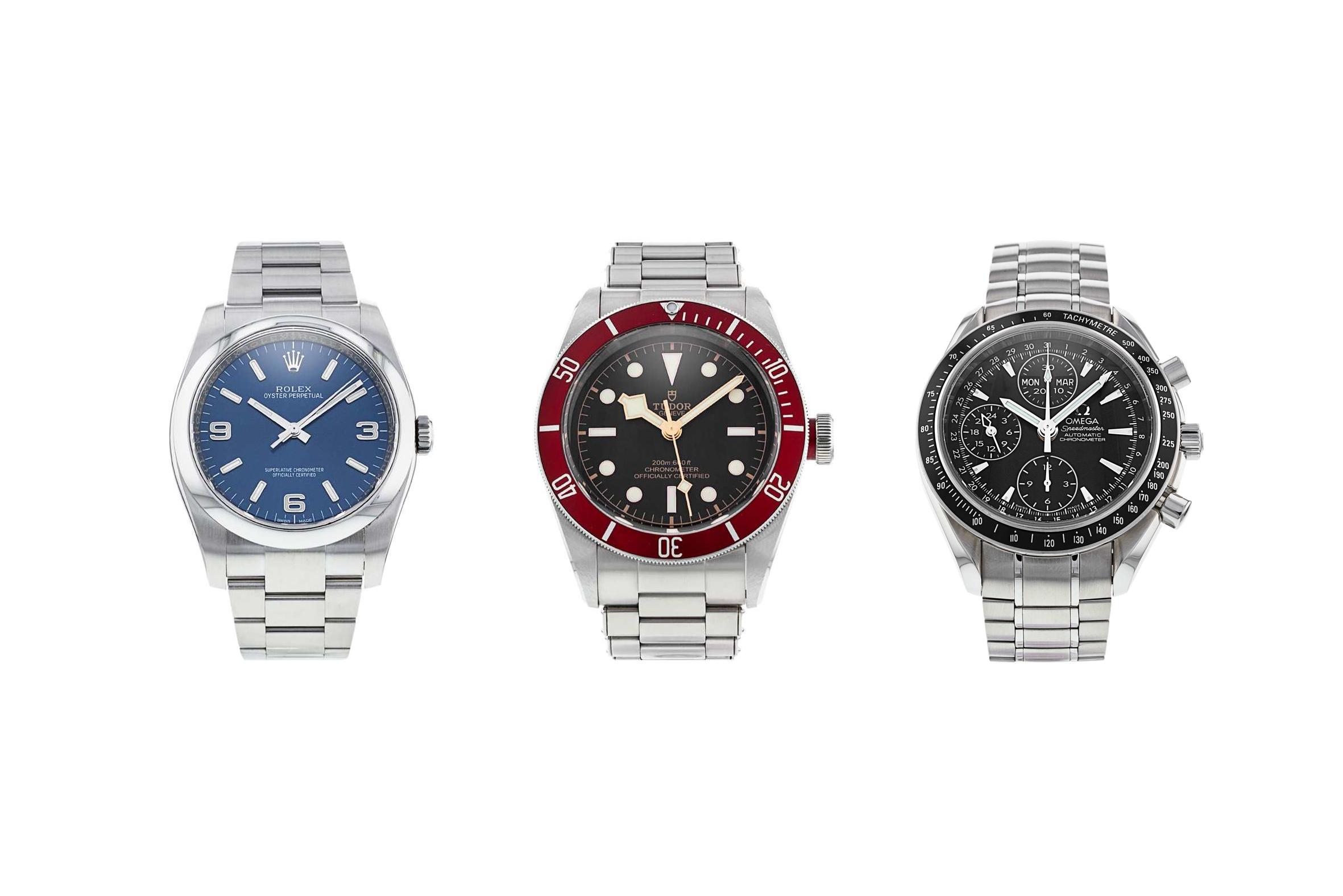 Rolex Perpetual, Tudor Black Bay and Omega Speedmaster
