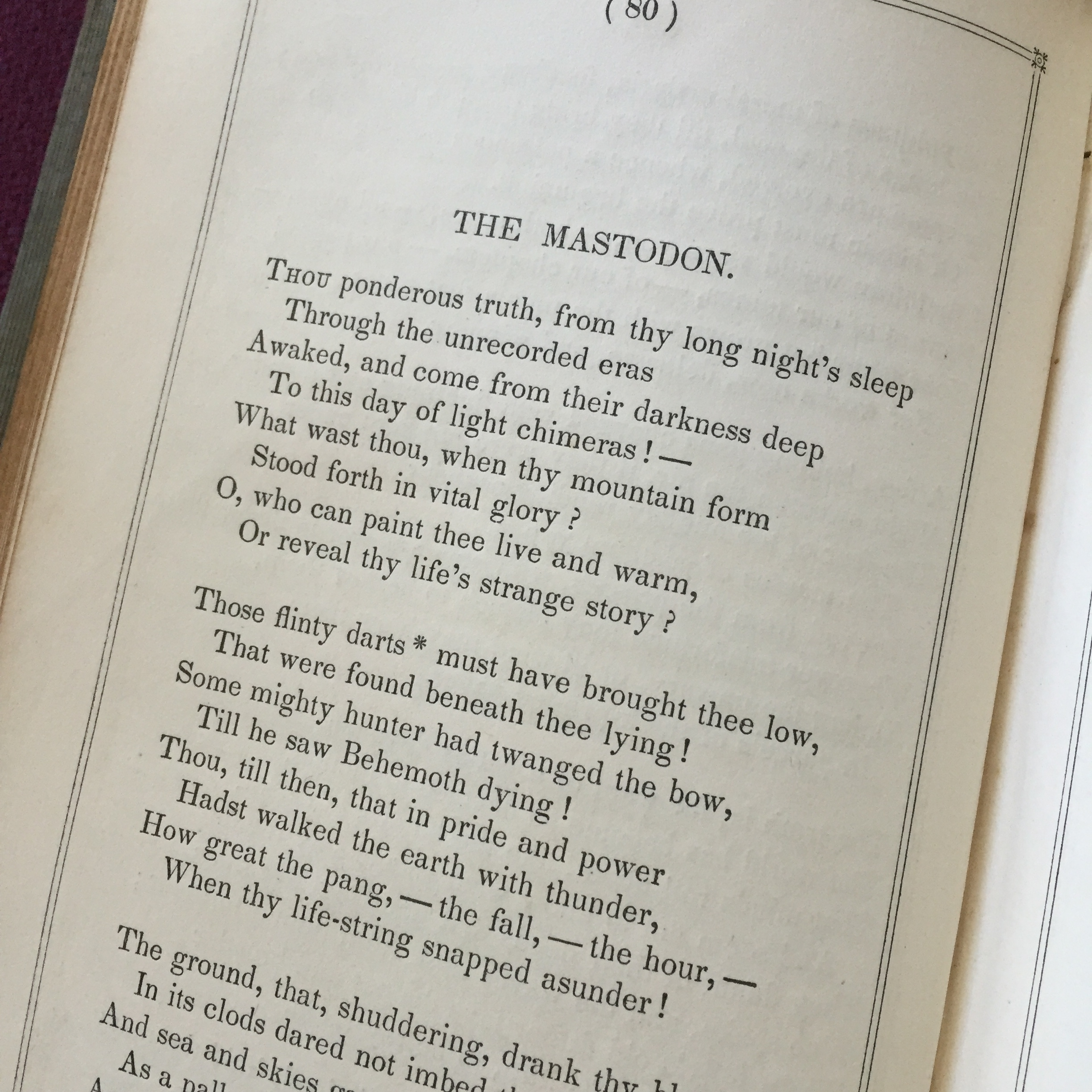 "Poet Hannah Flagg Gould (1788-1865) wrote about nature and science, including a poem titled ""The Mastodon""."