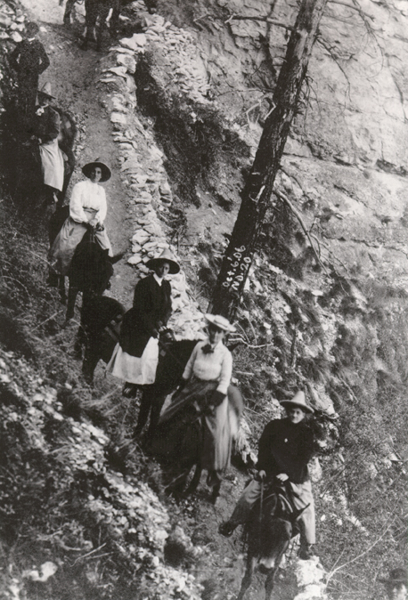 Bascom (in the flat white hat), courtesy of the Sophia Smith Collection at the Smith College Archives