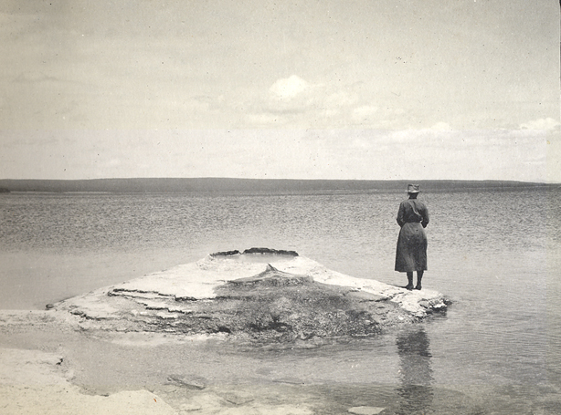 Florence Bascom at Yellowstone Lake in 1915,   courtesy of the Sophia Smith Collection at the Smith College Archives
