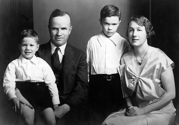 Katherine and her husband Ephraim Palmer with their two sons.