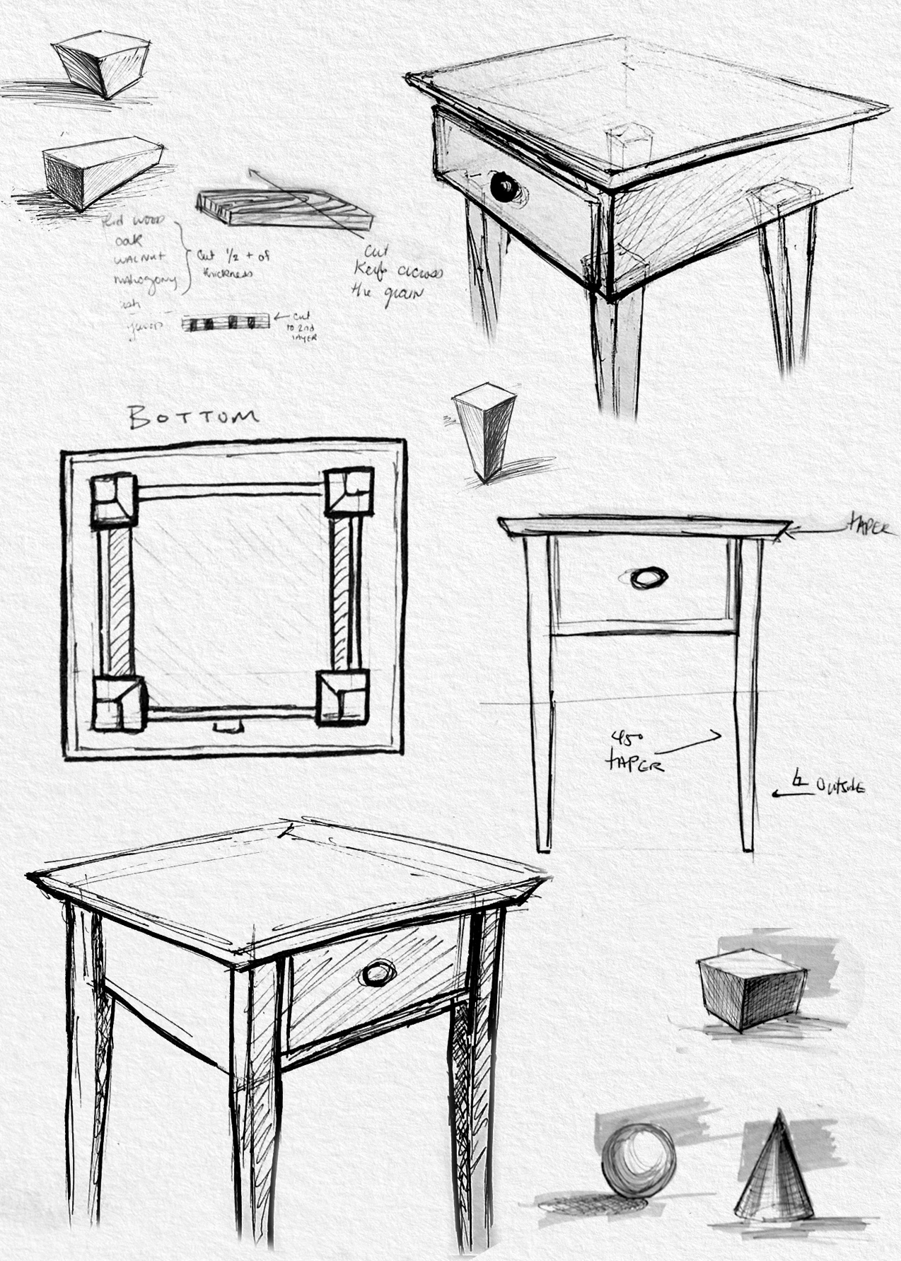 side table sketches maggie