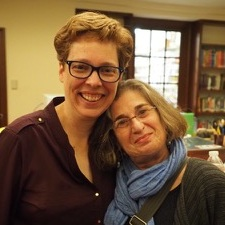 Karen and WIT Executive Director Corinne Lagermasini in 2019