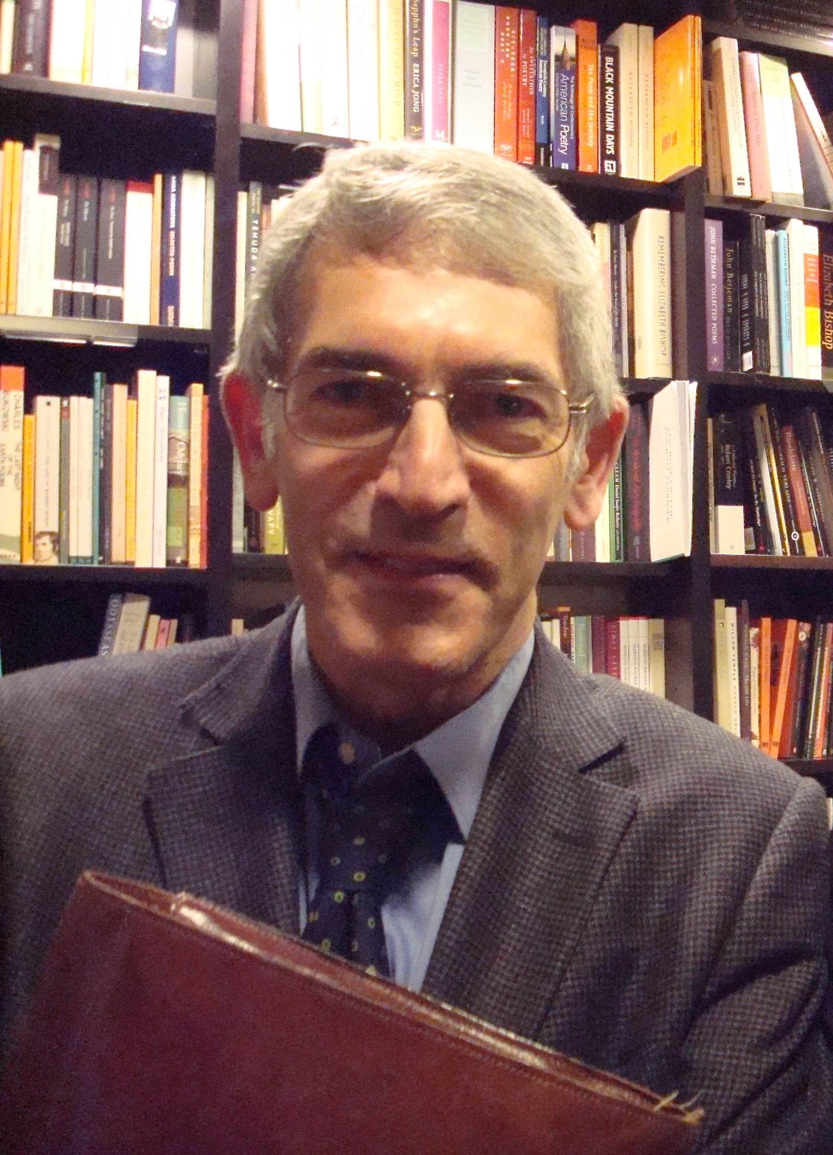 Anthony Rudolf, writer, translator of Yves Bonnefoy, founder of Menard Press and publisher of Octavio Paz among others.