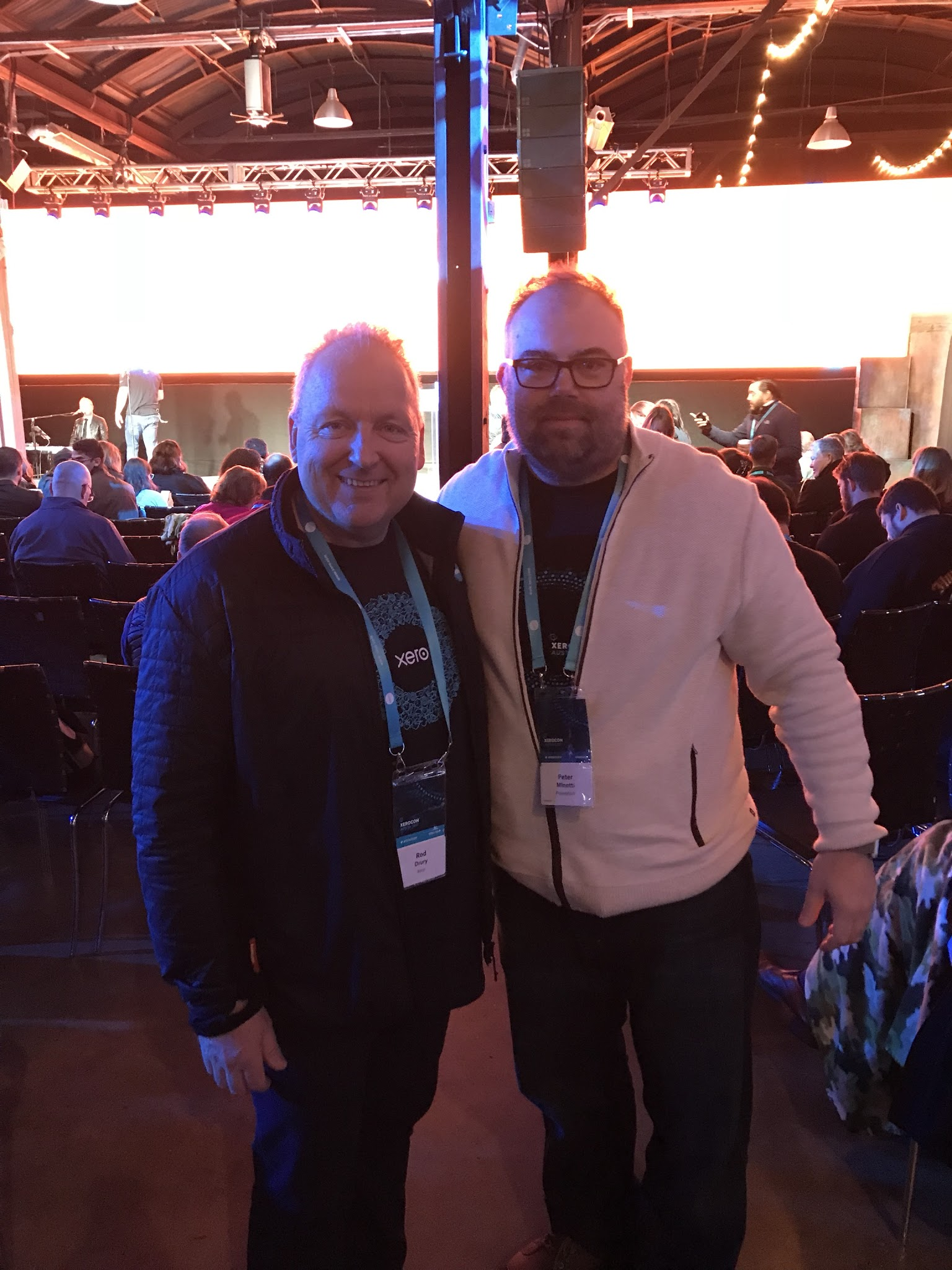 - With Rod Drury( Xero/Founder) at Xerocon Austin 2017.