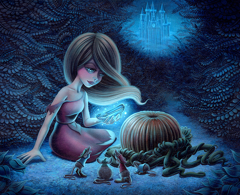 Disney WonderGround Cinderella At the Stroke of Twelve Print Shannon Bonatakis