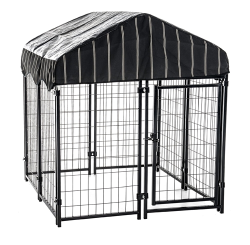 A large dog kennel works well for shelter.