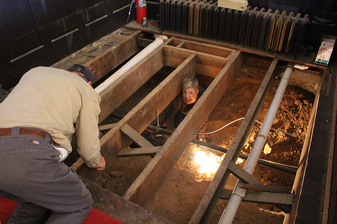 amy in crawl space.jpg