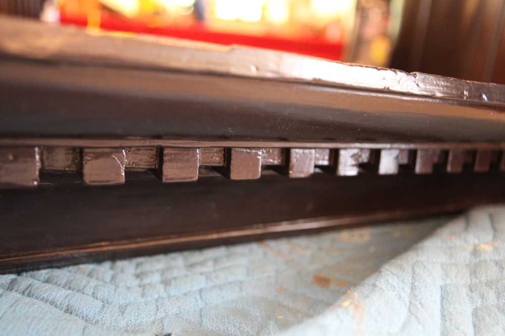 Detail of dentil molding