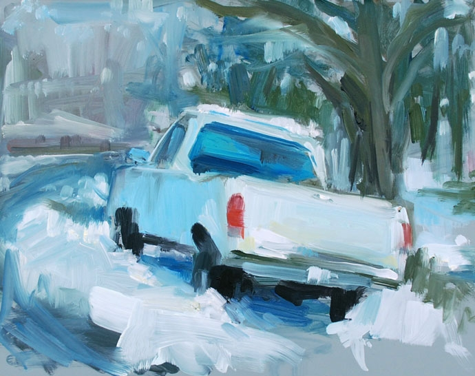 Ford in the Snow