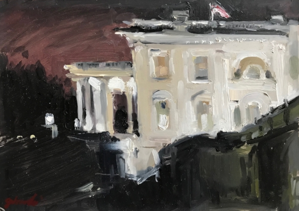 White House from Press Room, Nocturne
