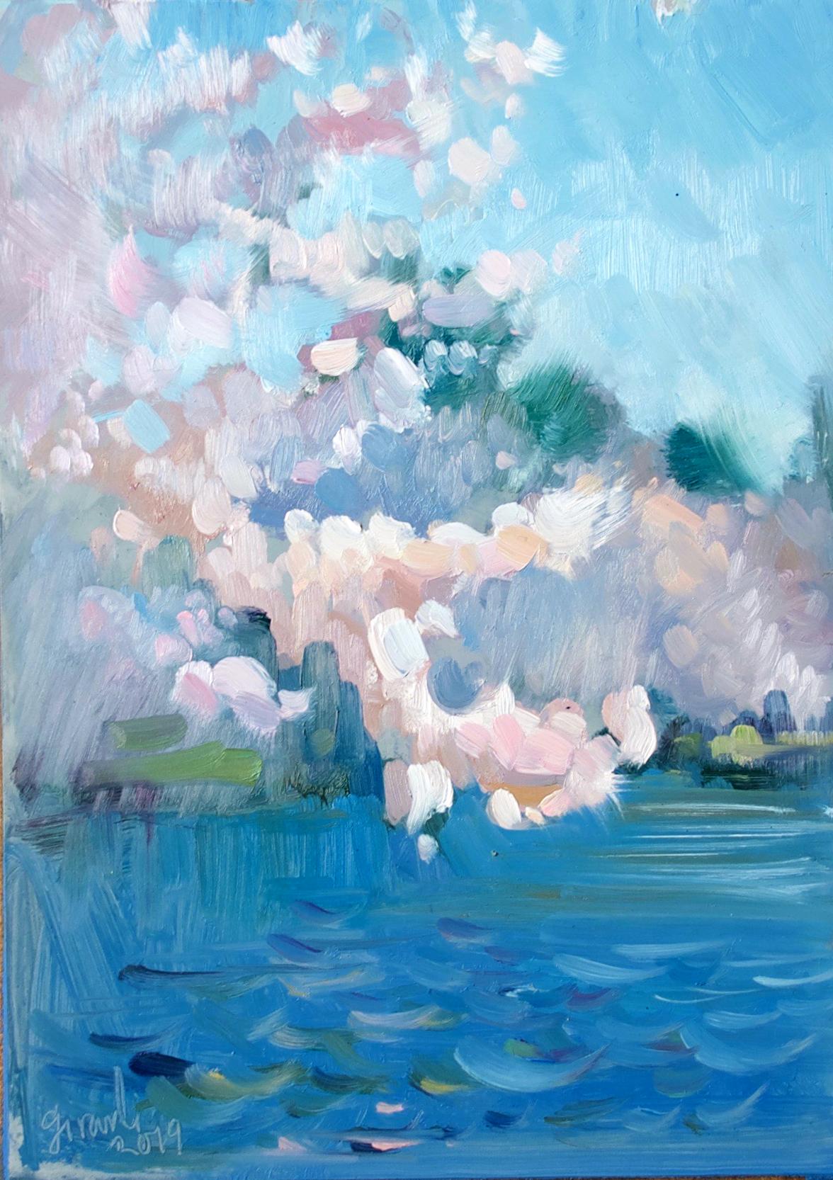 Cherry Blossoms at Peak Bloom, Tidal Basin, Washington DC 2019
