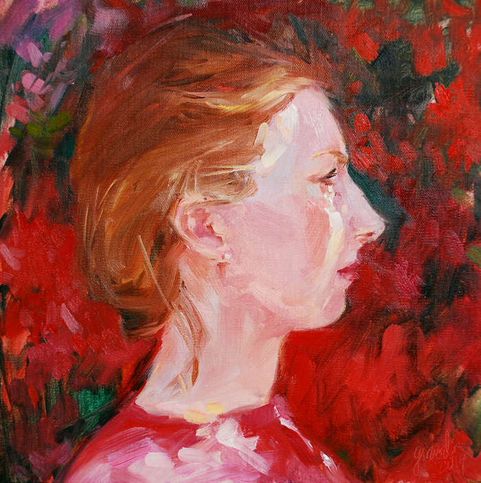 Self Portrait at 29 Under the Azaleas
