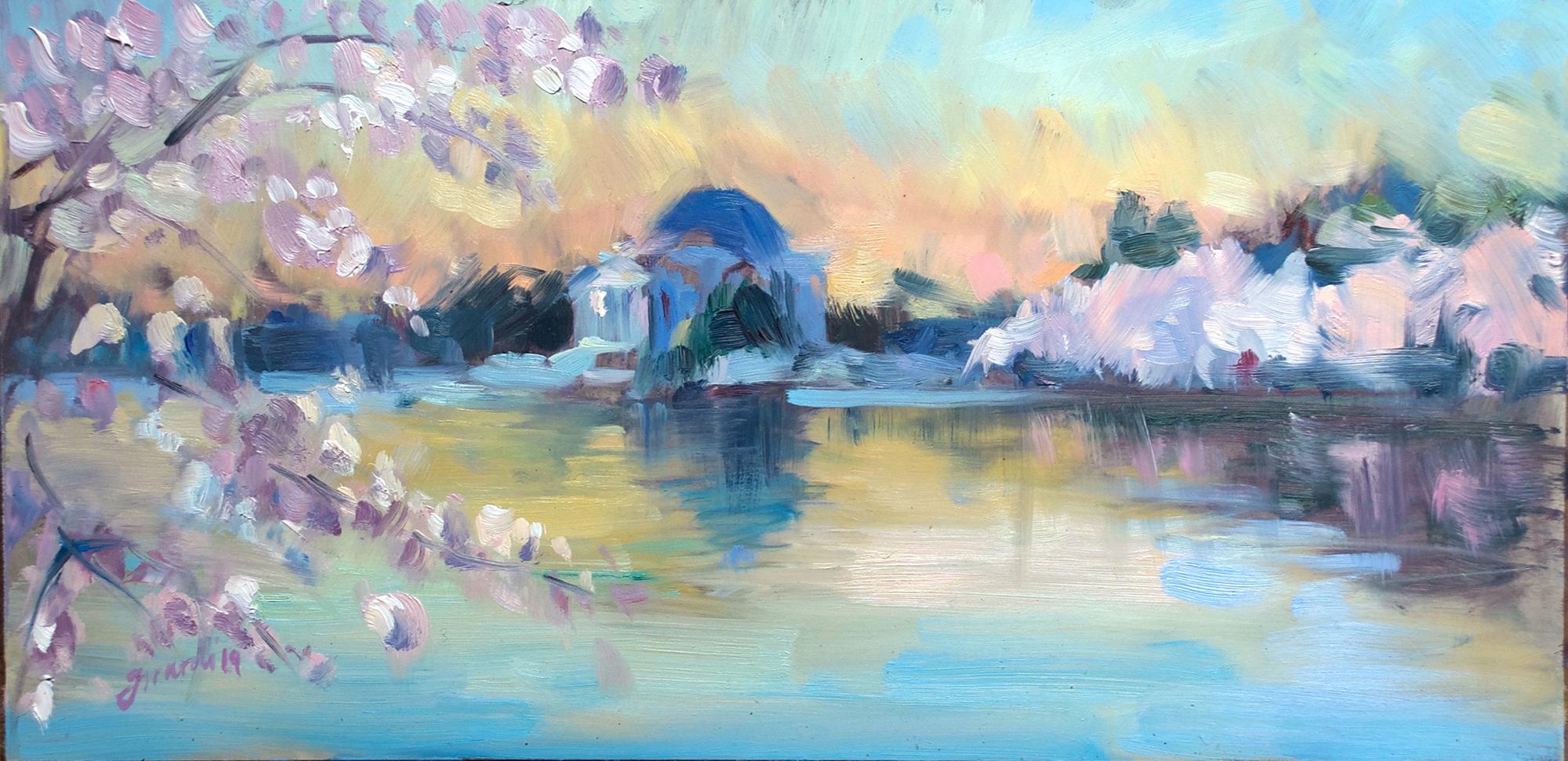 Sunrise at Peak Bloom, DC Cherry Blossoms 2019