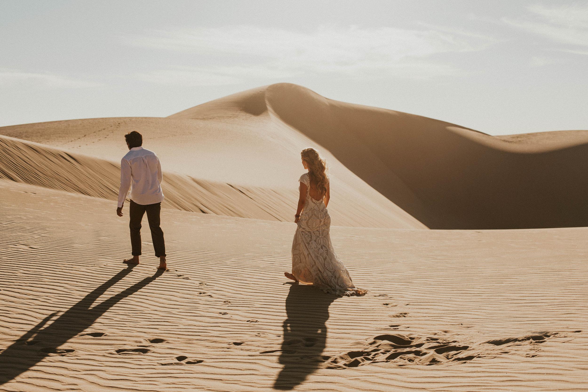 desert dunes elopement