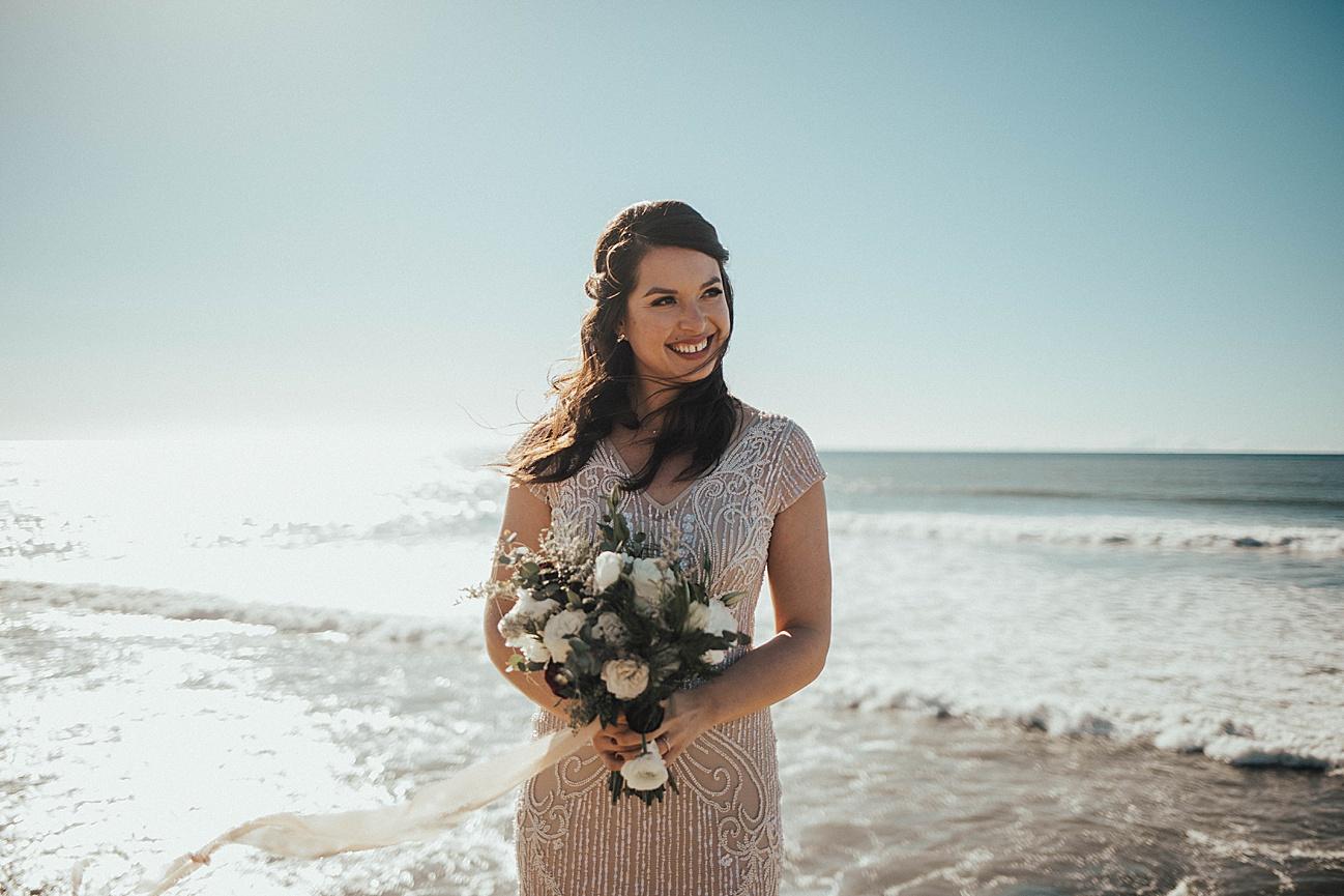 san diego sunset cliffs bride