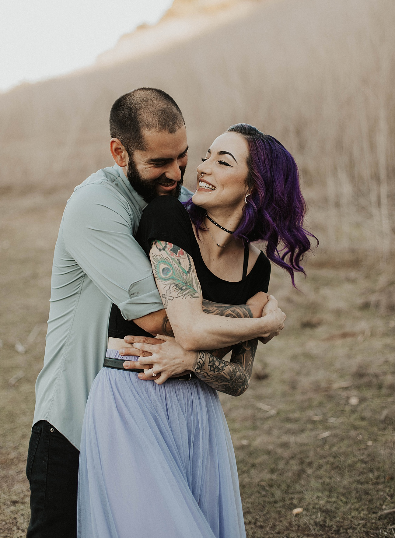 rocker chic tattoo engagement session