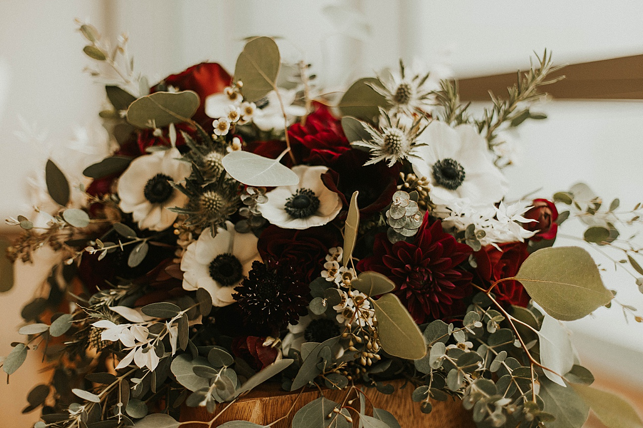 green acres wedding bouquet
