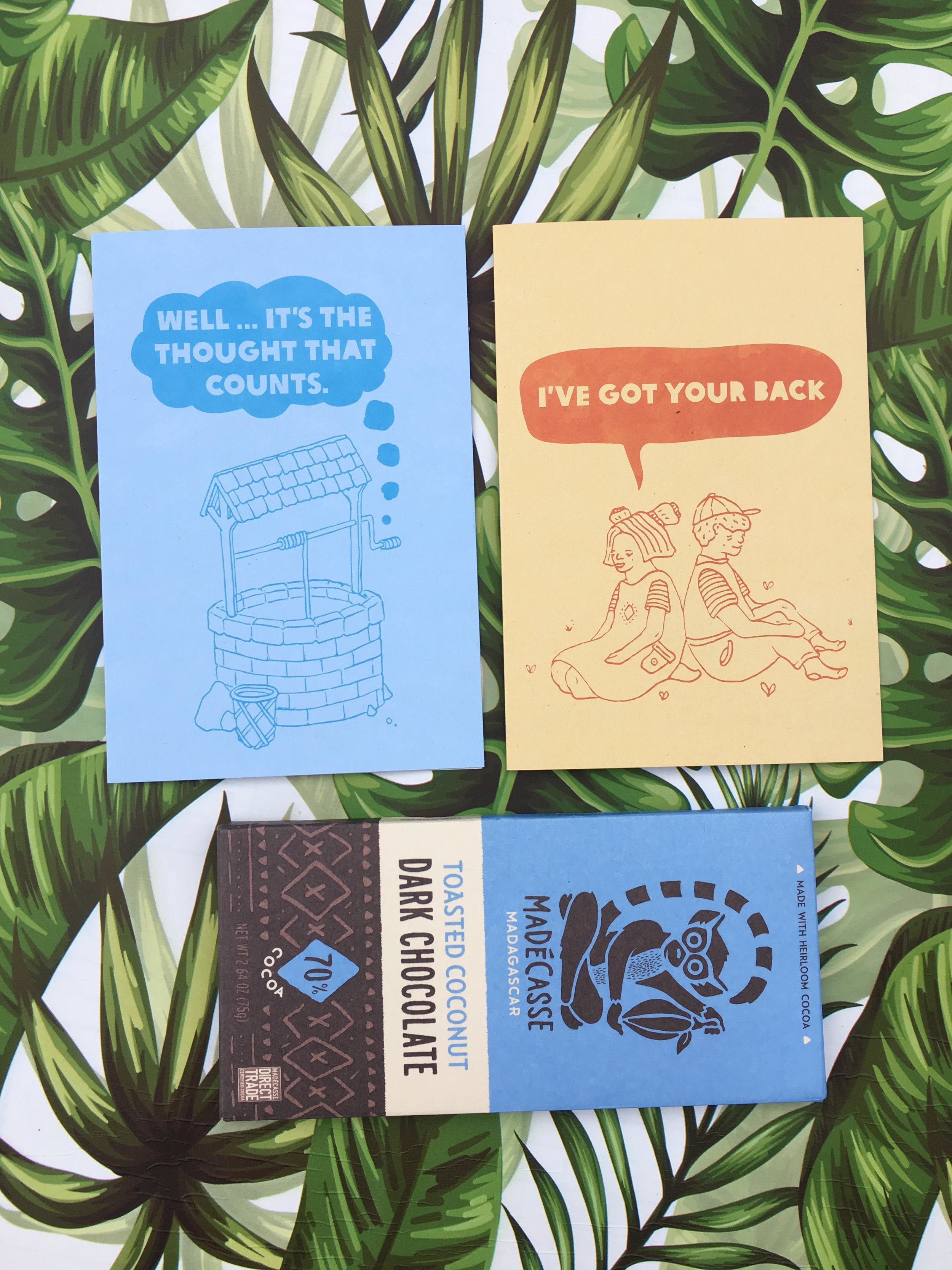 My gift cards + vegan chocolate from the Oxfam store @jaclynmccosker
