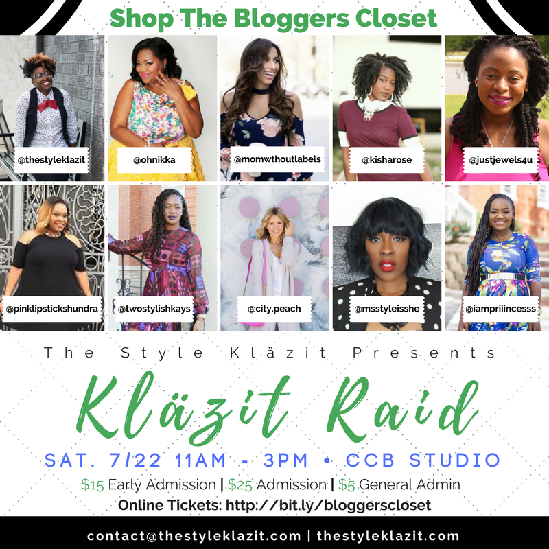 The Style Klazit, Melodie Stewart, Bloggers Closet Sale, Closet Raid, Atlanta Brunch, Atlanta bloggers