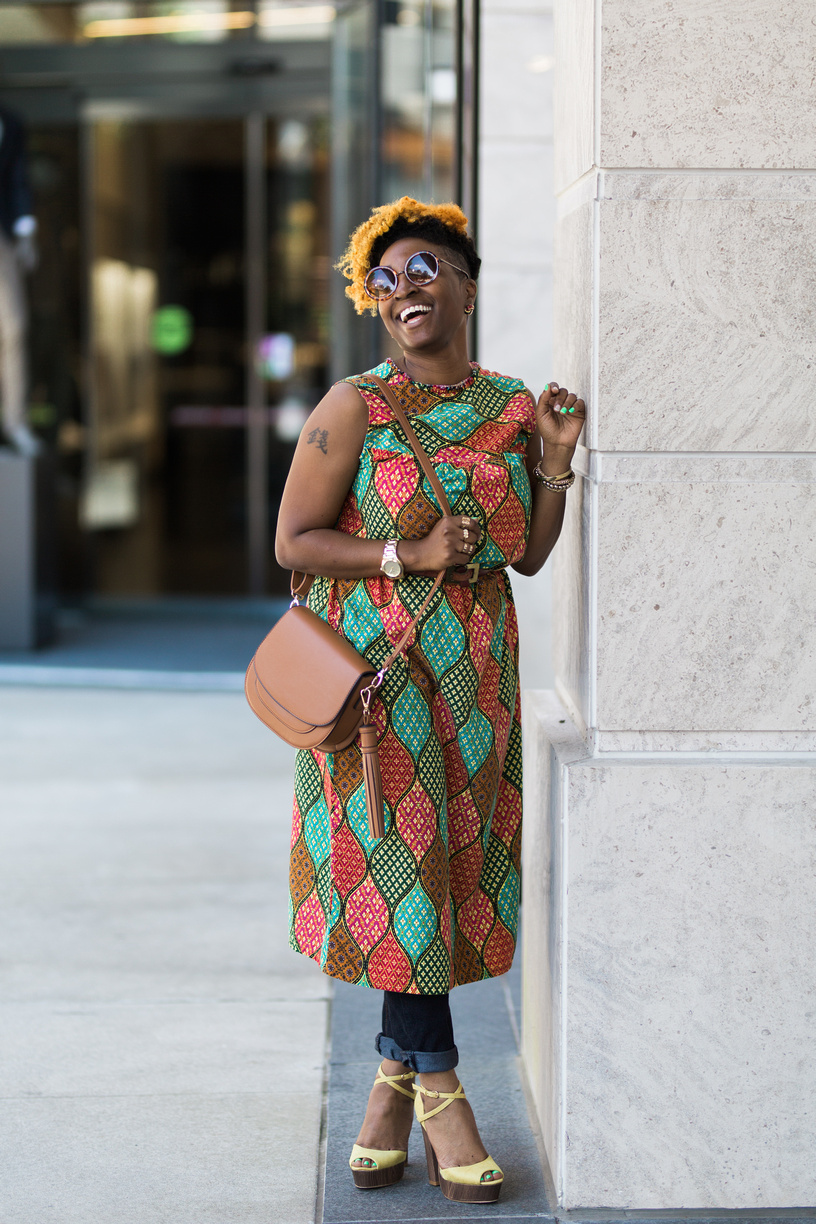 Melodie Stewart, The Style Klazit, Dress Over Pants Trend, Atlanta Style Blogger