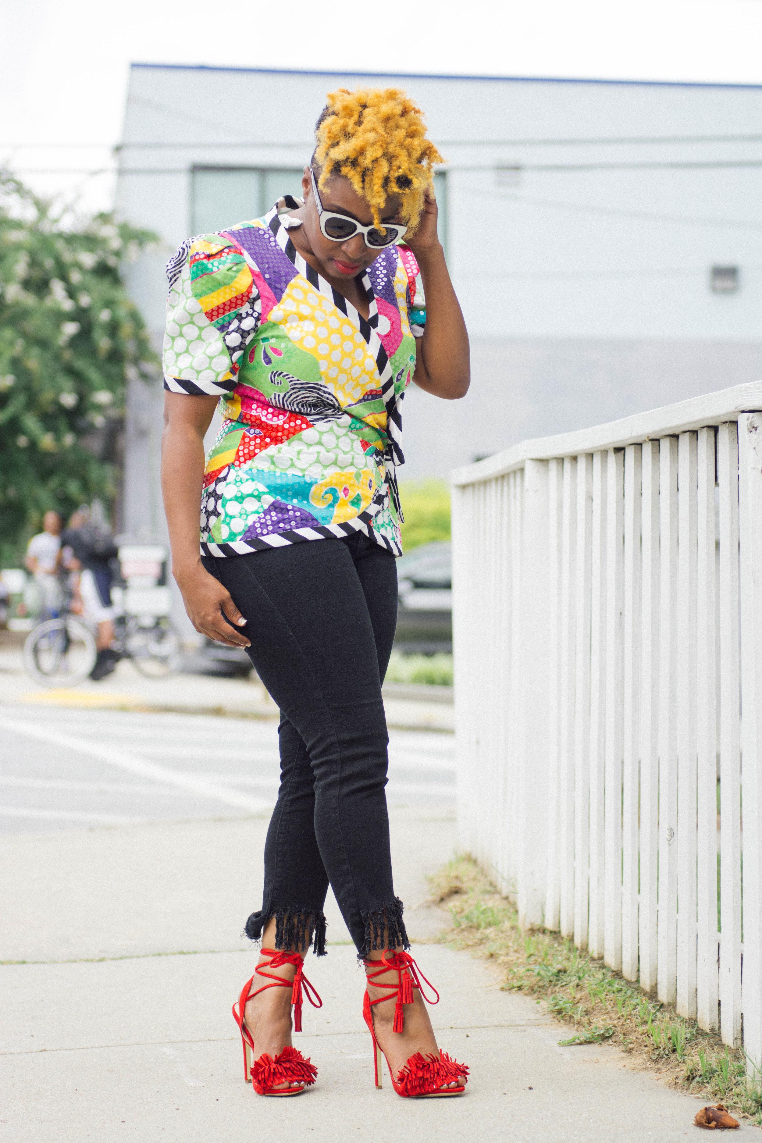 Melodie Stewart, The Style Klazit, Atlanta style blogger, Vintage top, fringe jeans