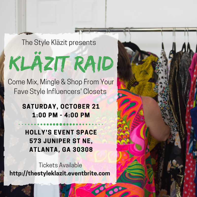 The Style Klazit, Melodie Stewart, Klazit Raid, Bloggers Closet Sale, Atlanta influencer, Atlanta Shopping event