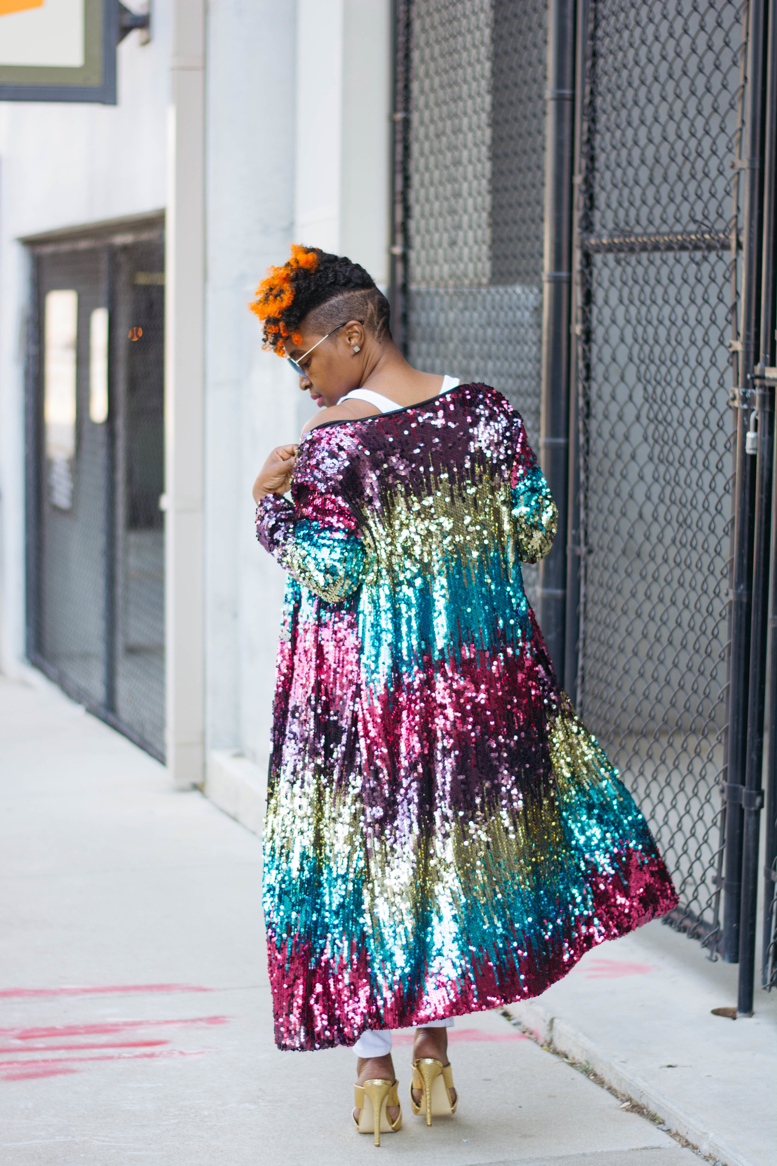 This Multi-Color Statement Sequin Duster, Atlanta Personal Stylist