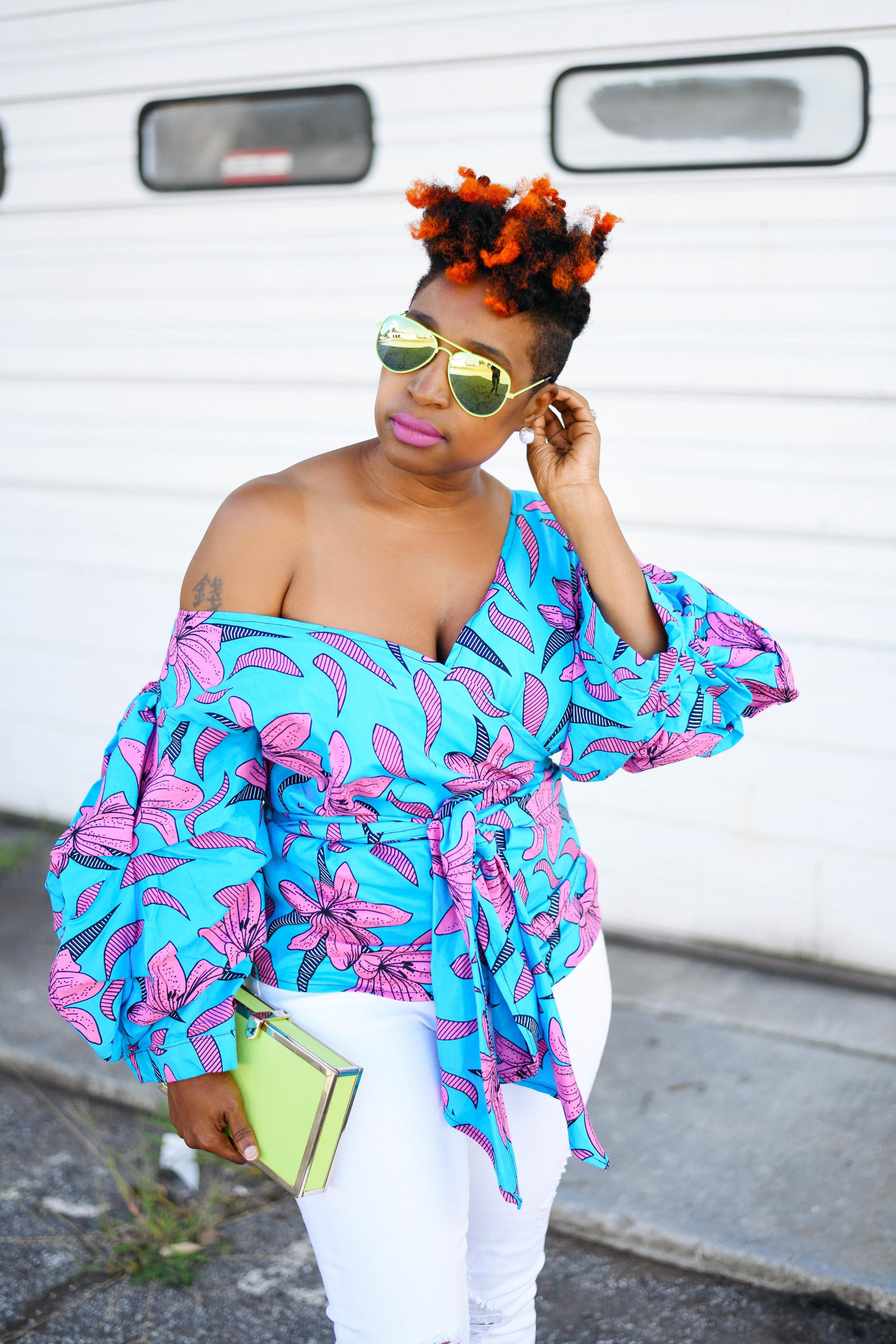 Atlanta Personal Stylist, Top Atlanta Blogger, Ankara Print Street Style