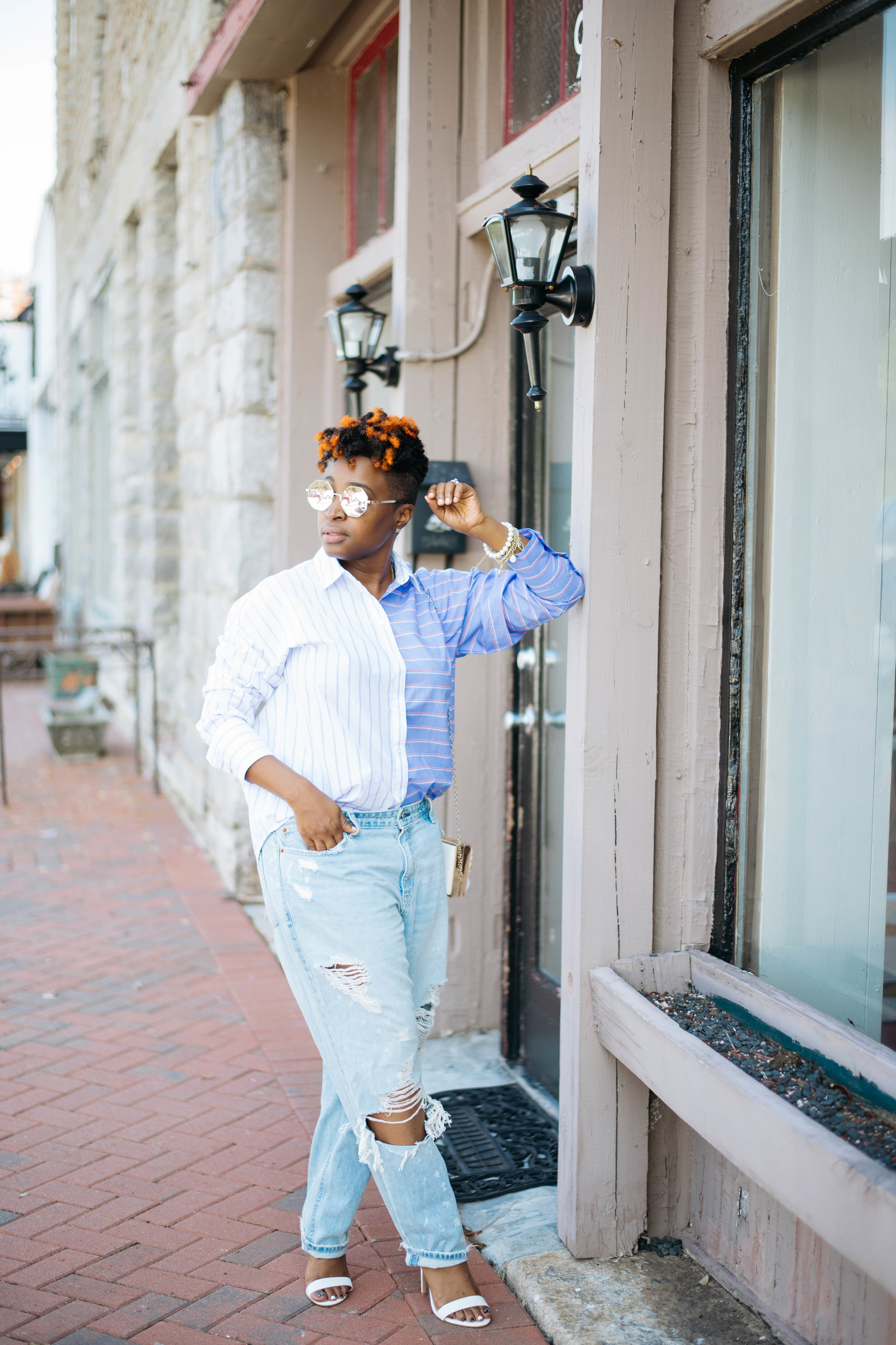 Melodie Stewart, Oversized Jeans Streetstyle, Atlanta blogger