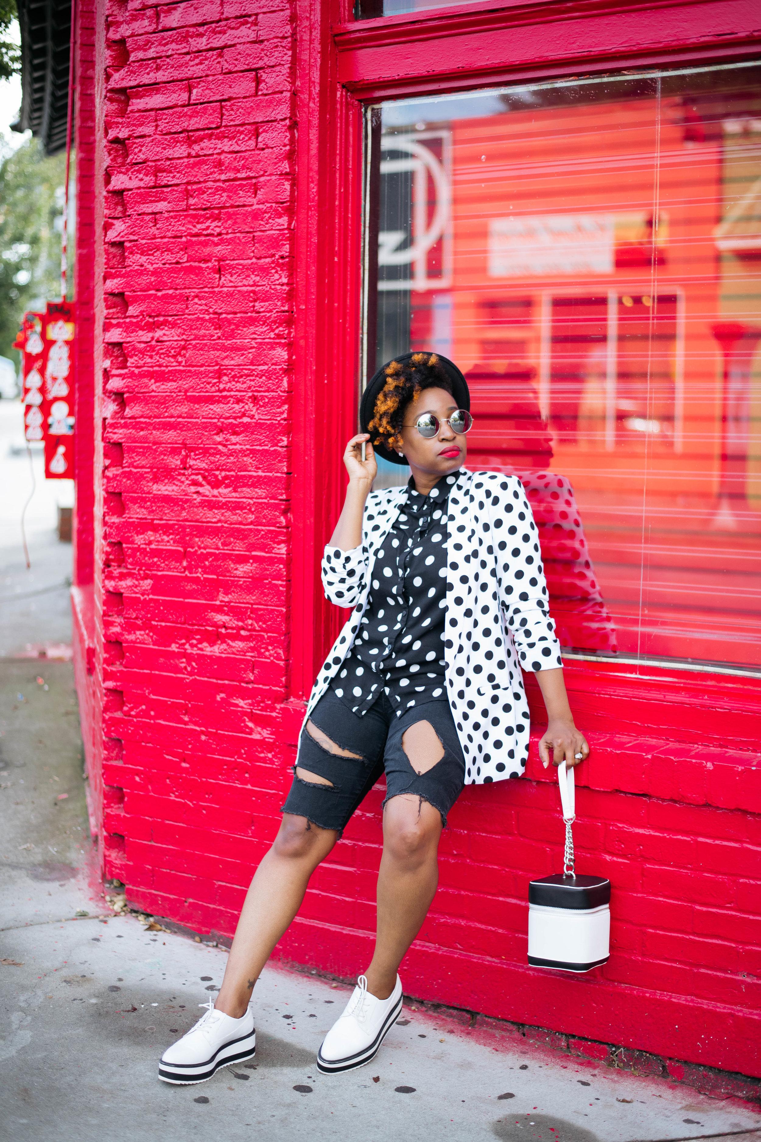 Melodie Stewart, Top Atlanta Blogger, Fall Shorts Street Style