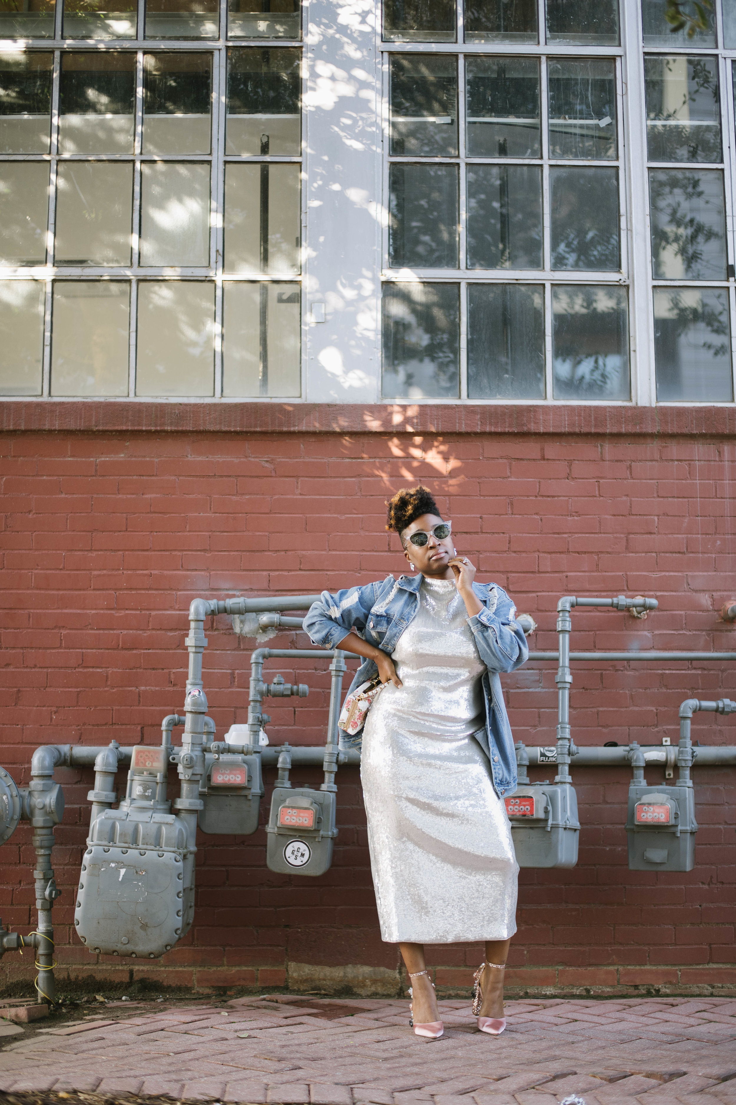 Sequin Dress, Holiday wear, Top Atlanta blogger