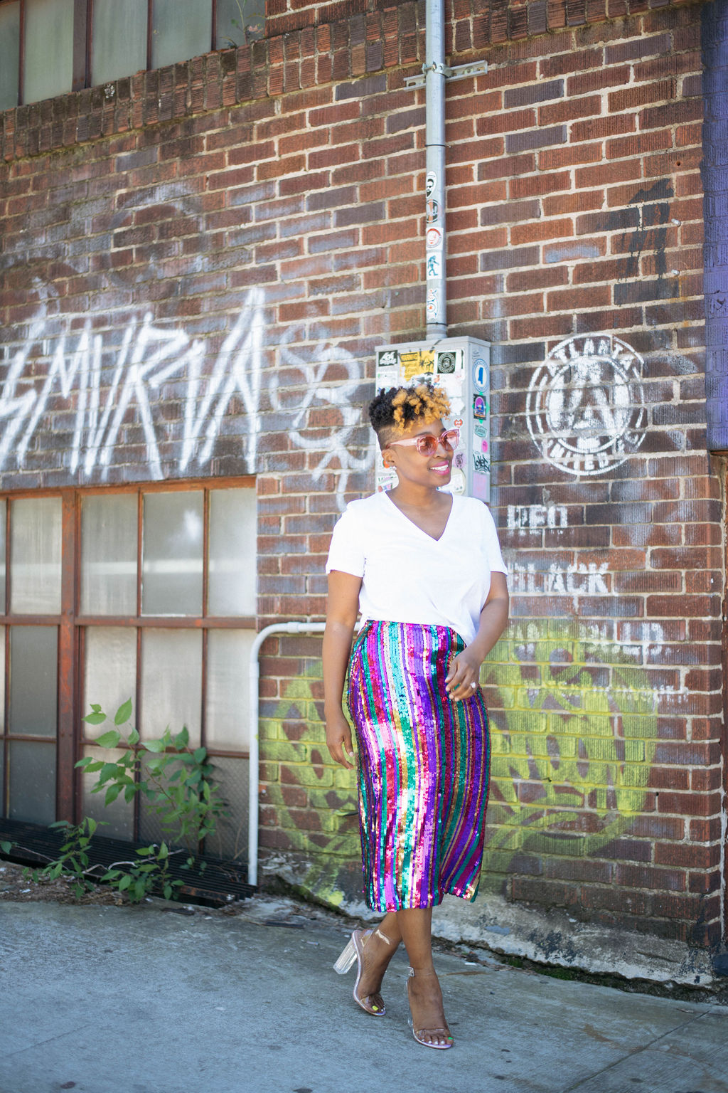 Sequin skirt street style, Personal Stylist, Top Atlanta Blogger, melodiestewart.com
